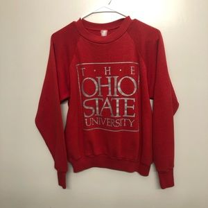 Ohio State Buckeyes sweatshirt red vintage small